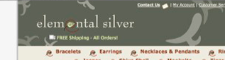 Elemental Silver website portfolio thumbnail